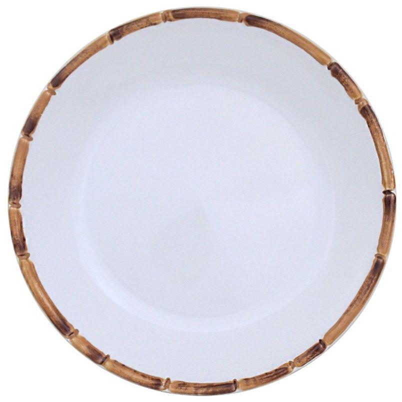 Prato Sobremesa Bambu Natural (06 Unidades)