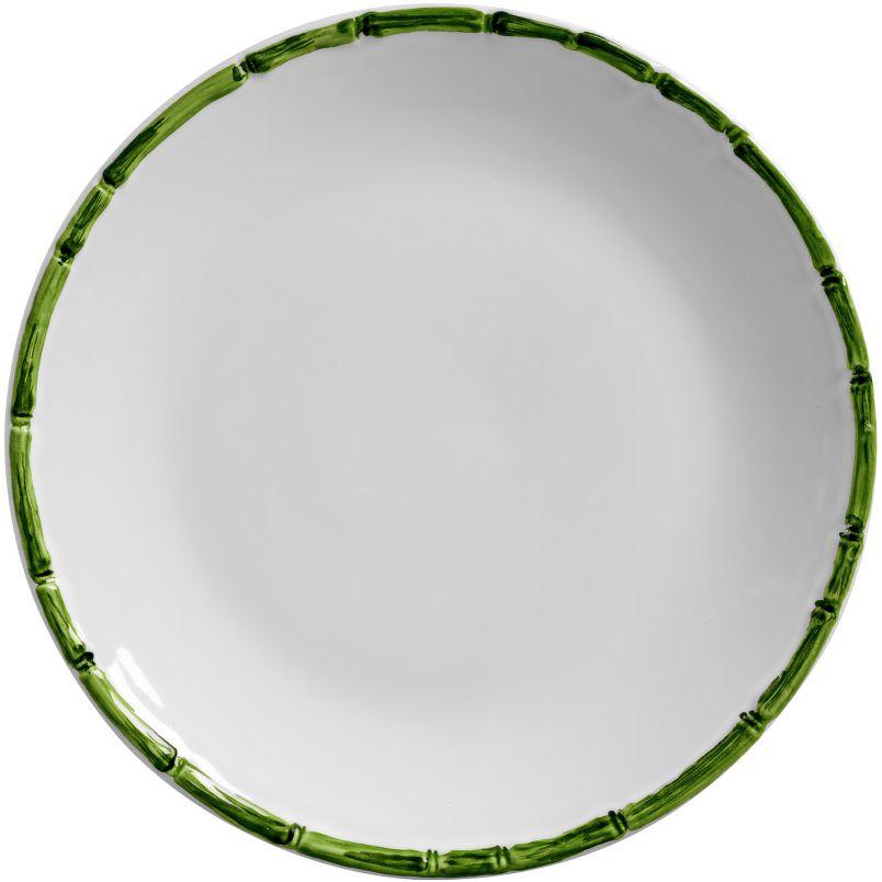 Prato Sobremesa Bambu Colorido Verde (06 Unidades)