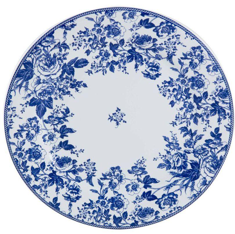 Prato Sobremesa Blue Garden (6 Unidades)