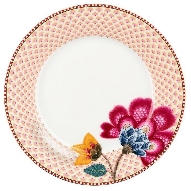 Prato Sobremesa Branco - Floral Fantasy - Pip Studio