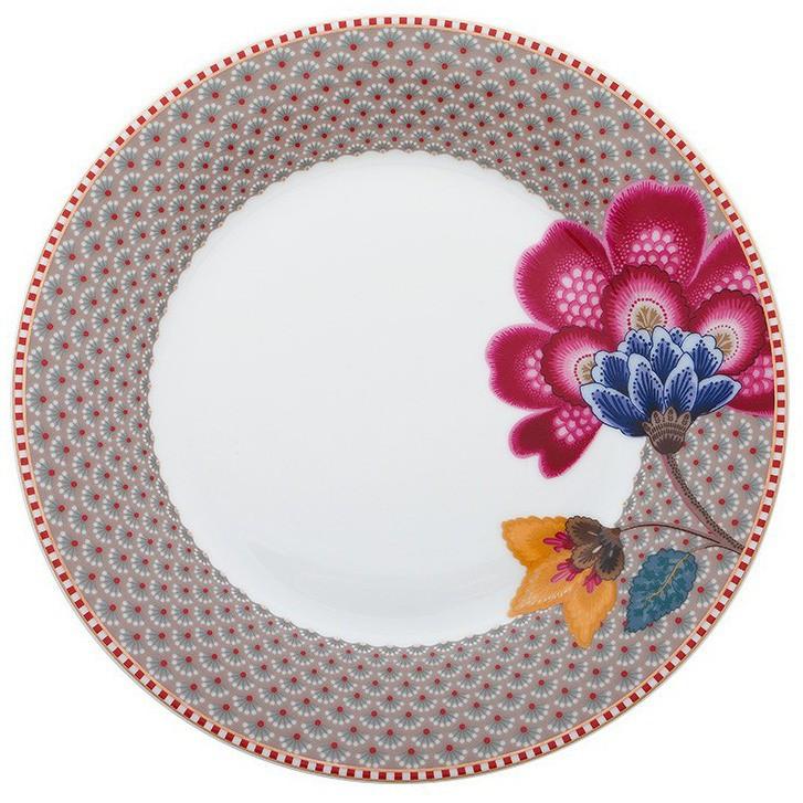 Prato Sobremesa Cáqui - Floral Fantasy - Pip Studio