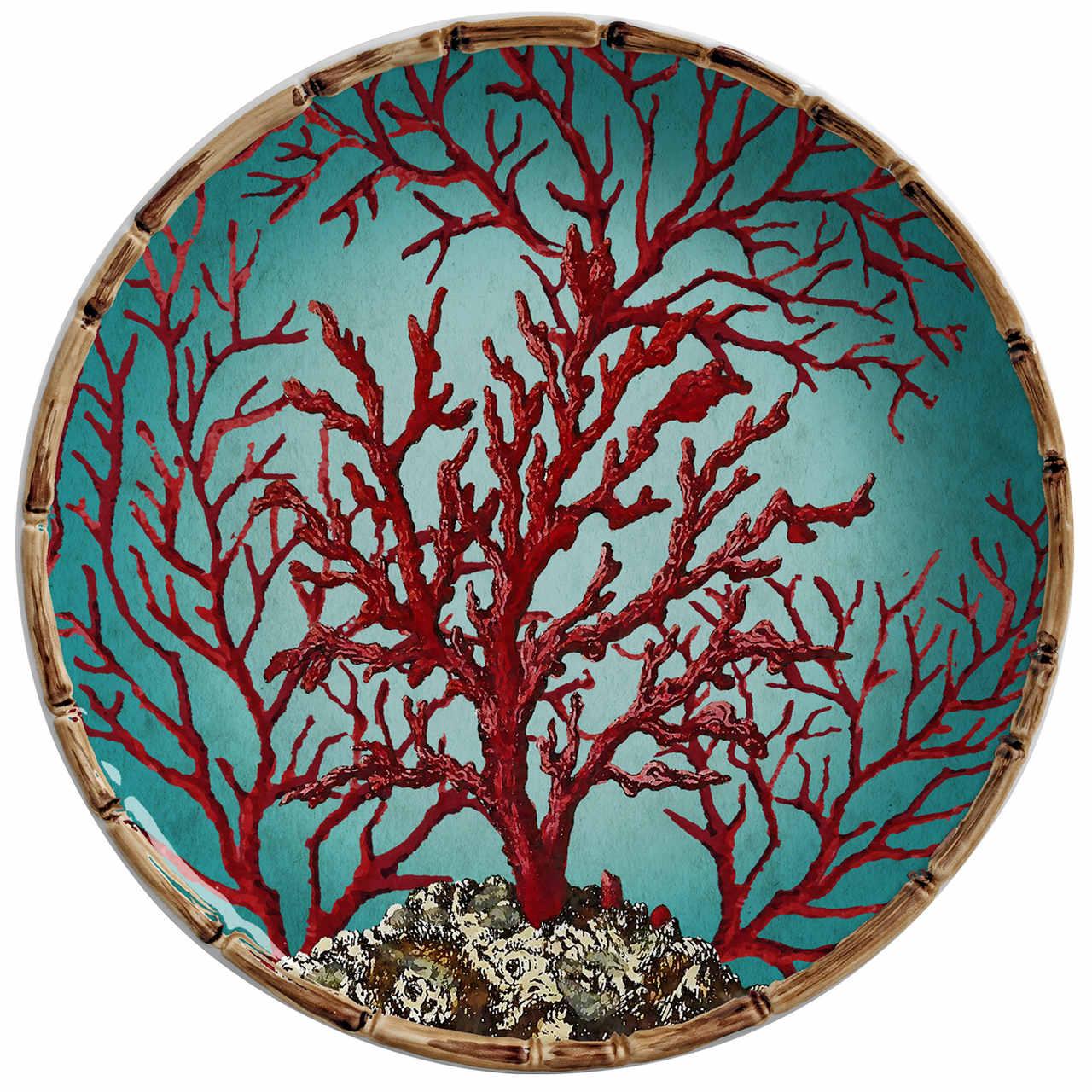 Prato Sobremesa Coral Sardenha (06 Unidades) - MB