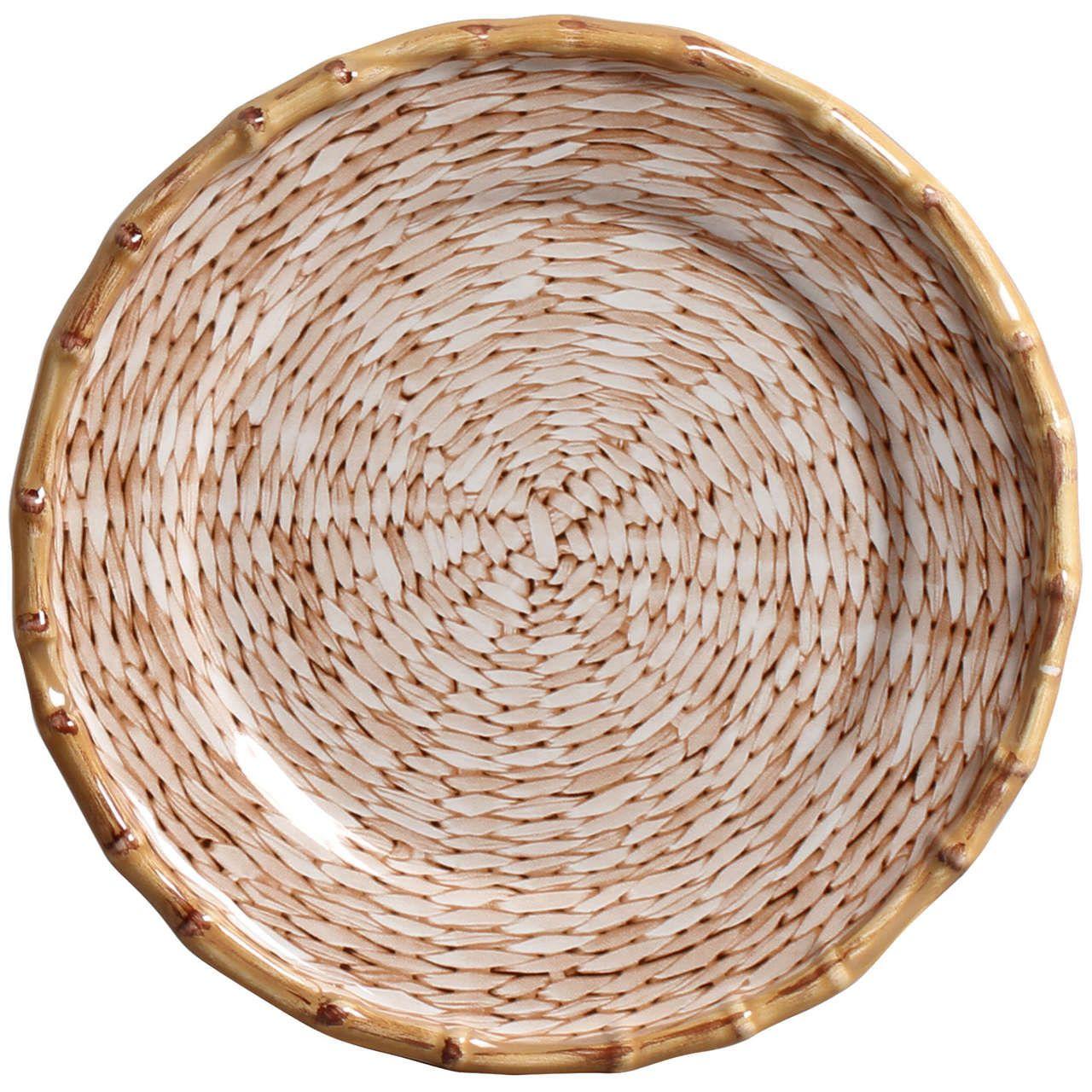 Prato Sobremesa Corda Fina Natural (06 Unidades) Cód.: 6423 - MB