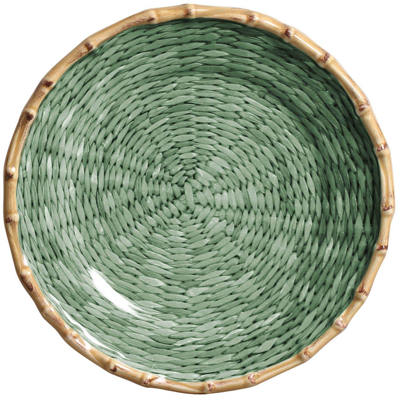 Prato Sobremesa Corda Fina Verde (06 Unidades) Cód.: 6219 - MB