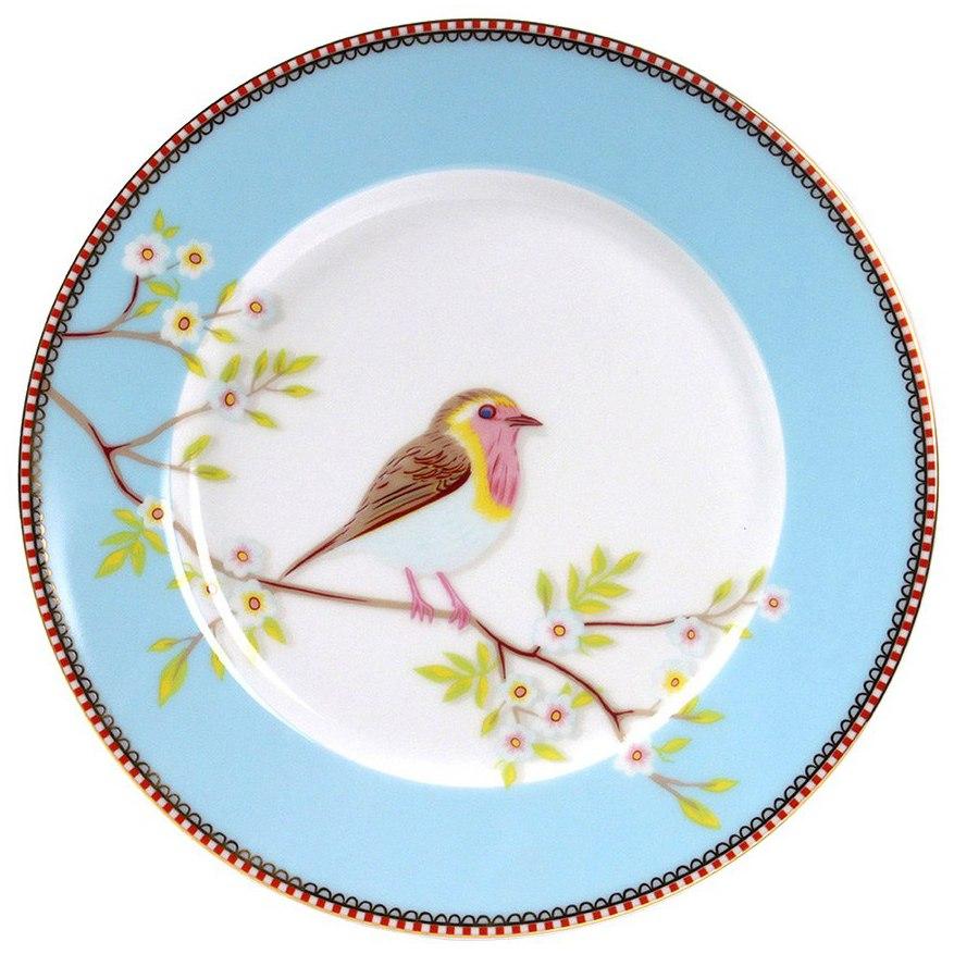 Prato de Sobremesa Early Bird Azul Floral - Pip Studio