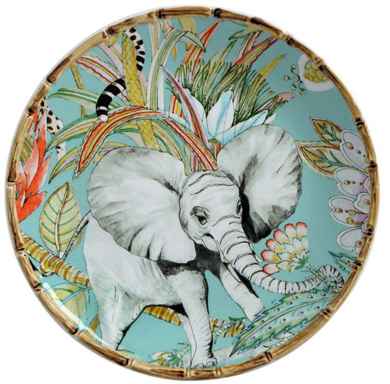 Prato Sobremesa Elefante Forest (06 Unidades) - MB