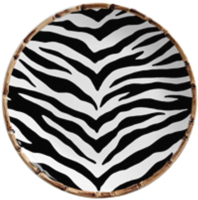Prato Sobremesa Forest Estampado Zebra (6 Unidades)