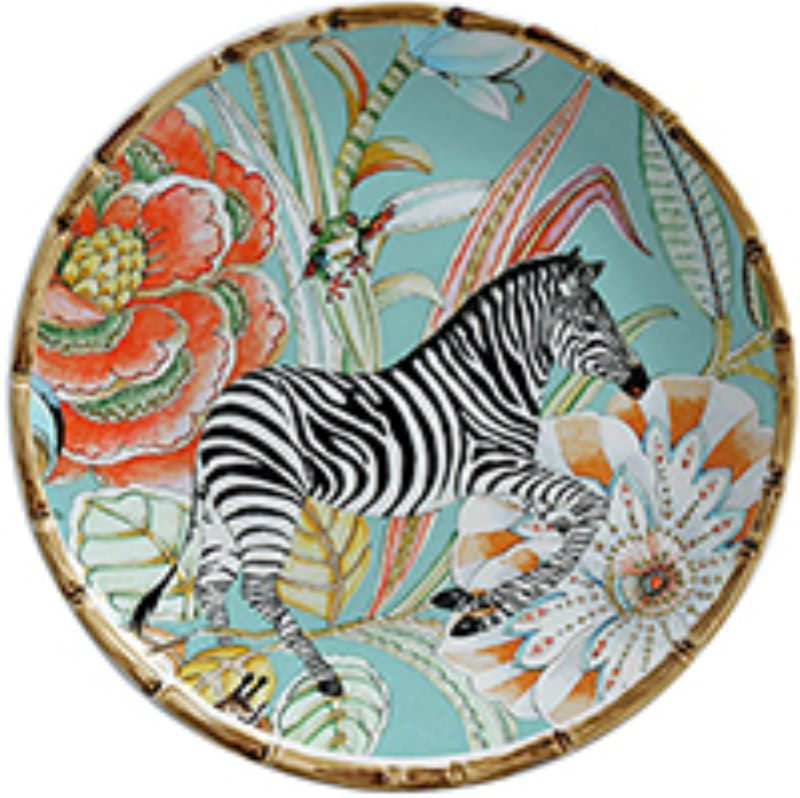Prato Sobremesa Forest Zebra (06 Unidades) - MB