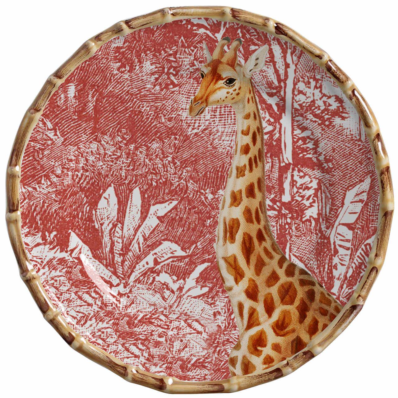 Prato Sobremesa Girafa African Toile (06 Unidades) - MB