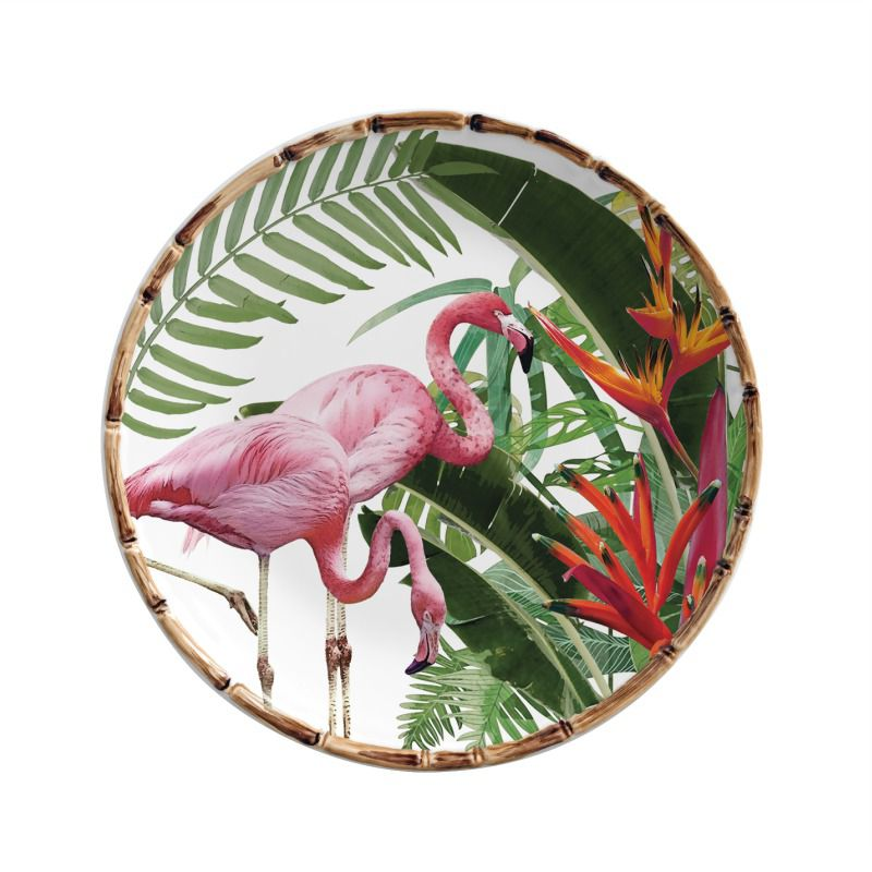 Prato Sobremesa Helicônia Flamingo (06 Unidades) - MB