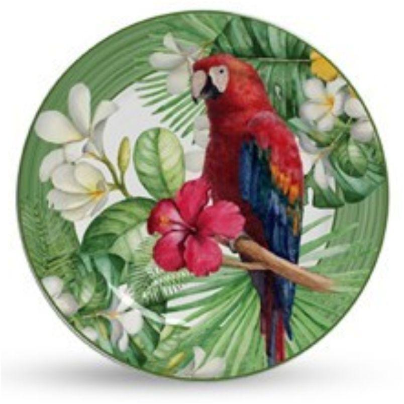 Prato Sobremesa Macaw (6 Unidades)