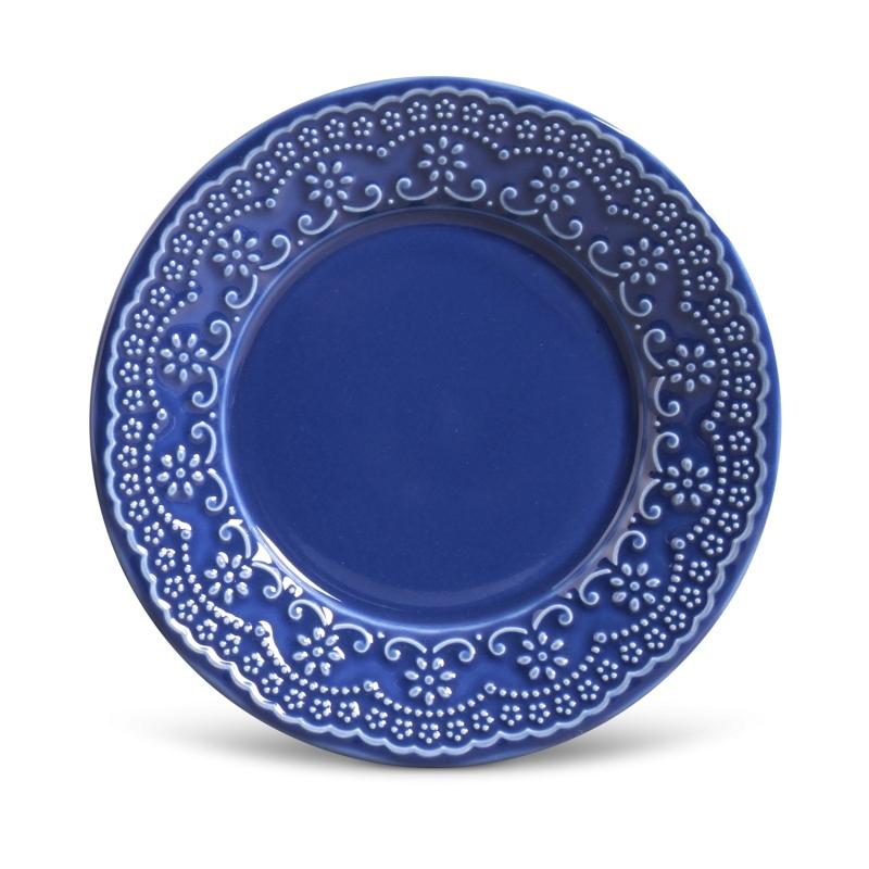 Prato Sobremesa Madeleine Azul Navy 20,5cm (6 Unidades)