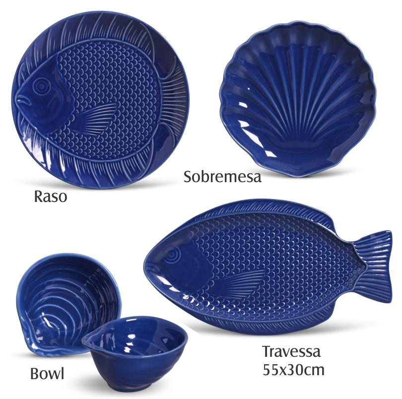 Prato Sobremesa Ocean Azul Navy 19,5cm (6 Unidades)