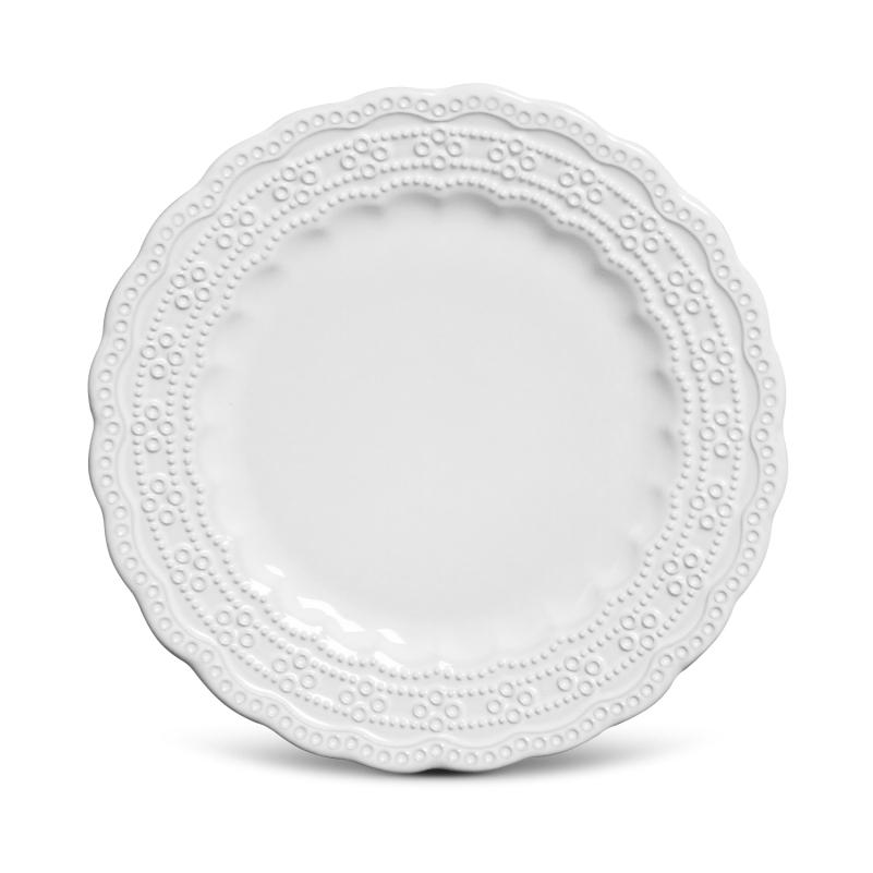 Prato Sobremesa Peniche Branco 20,5cm (6 Unidades)