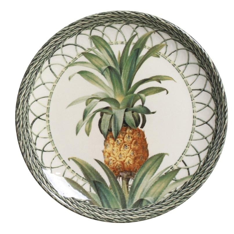 Prato Sobremesa Pineapple Green 20,5cm (6 Unidades)