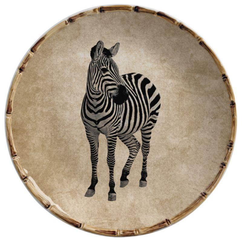 Prato Sobremesa Zebra (6 Unidades)