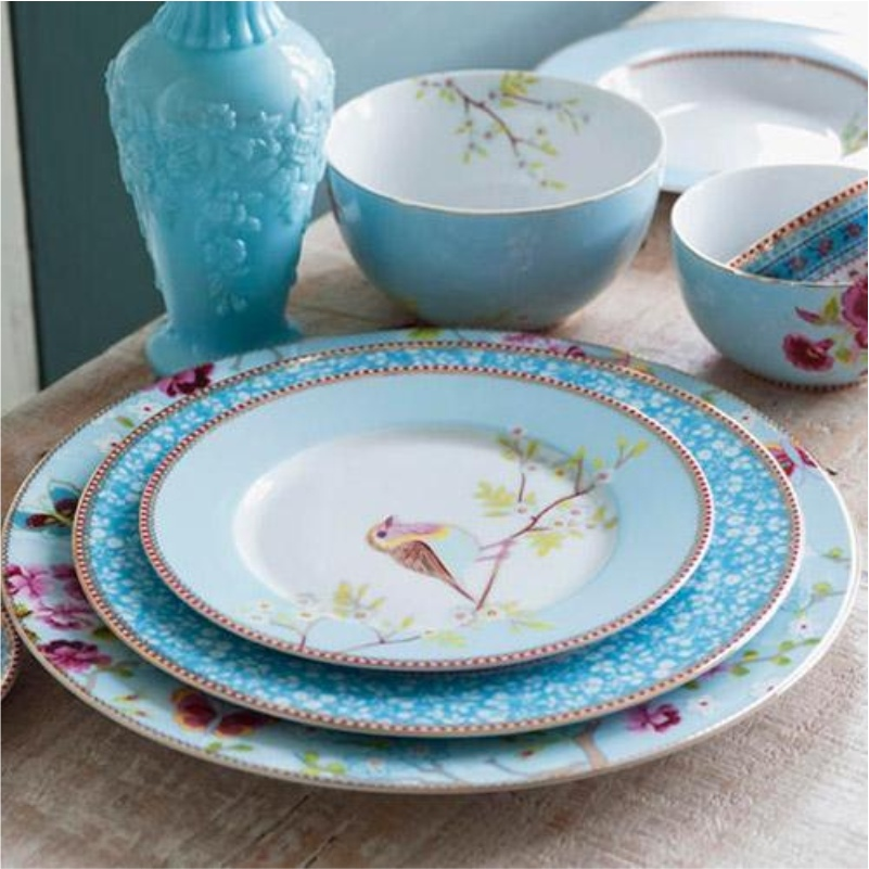 Prato Sousplat Azul Floral Pip Studio