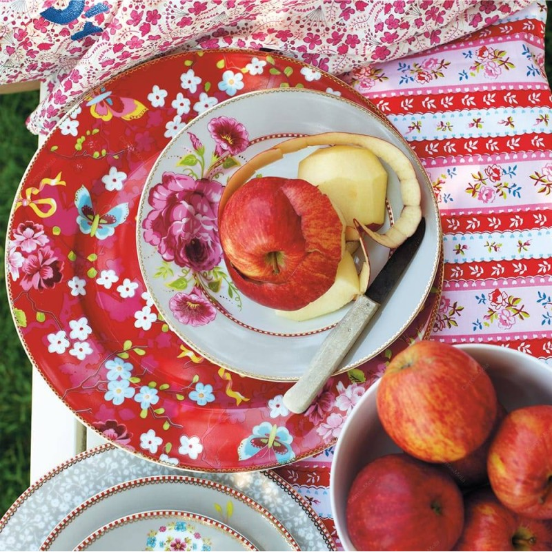 Prato Sousplat Rosa Floral Pip Studio