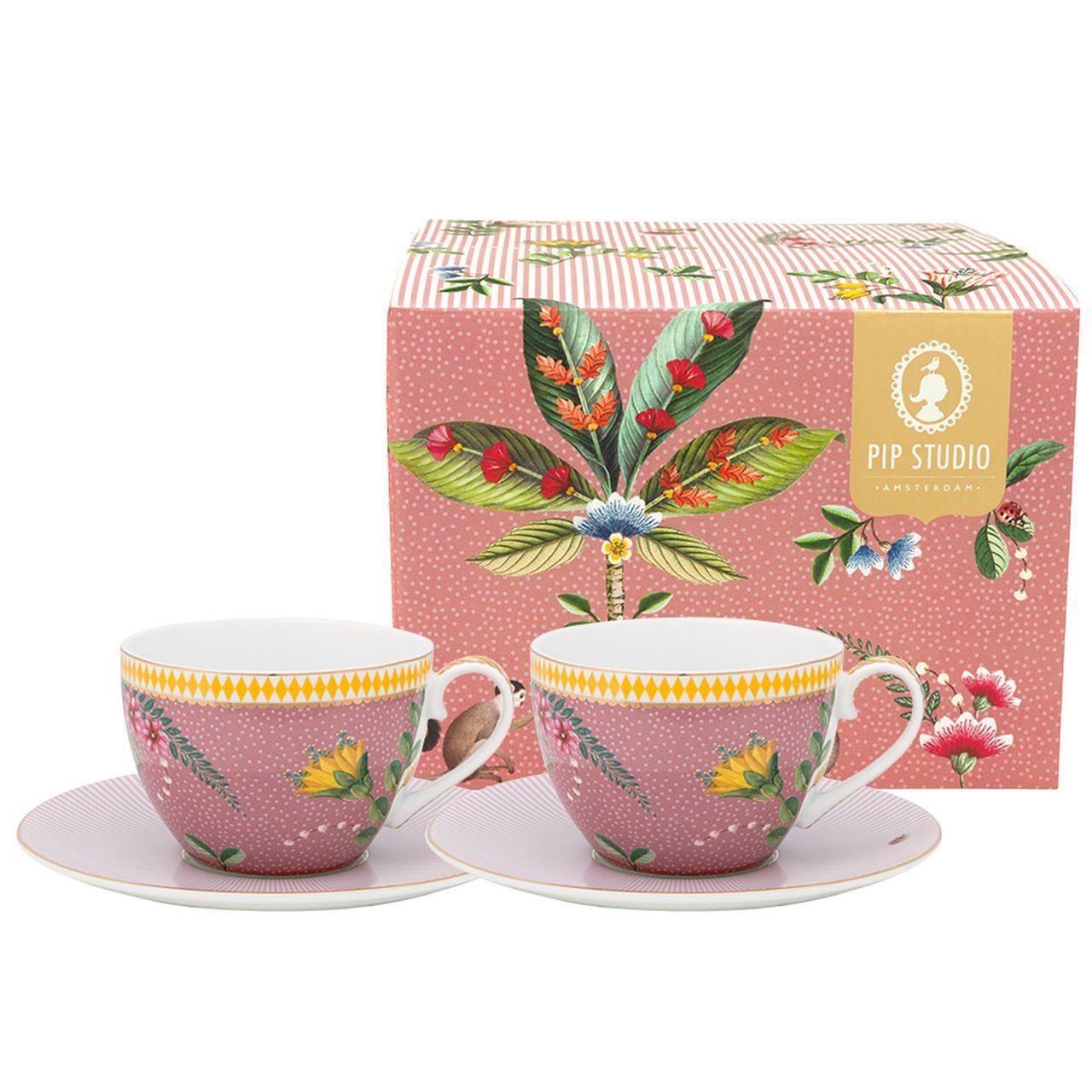 Set/2 Xícara de Chá Rosa - La Majorelle