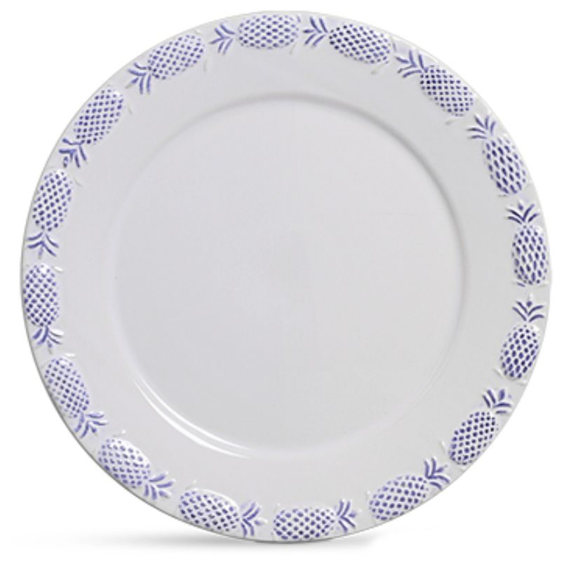 Sousplat Abacaxi Provençal Azul (6 Unidades)