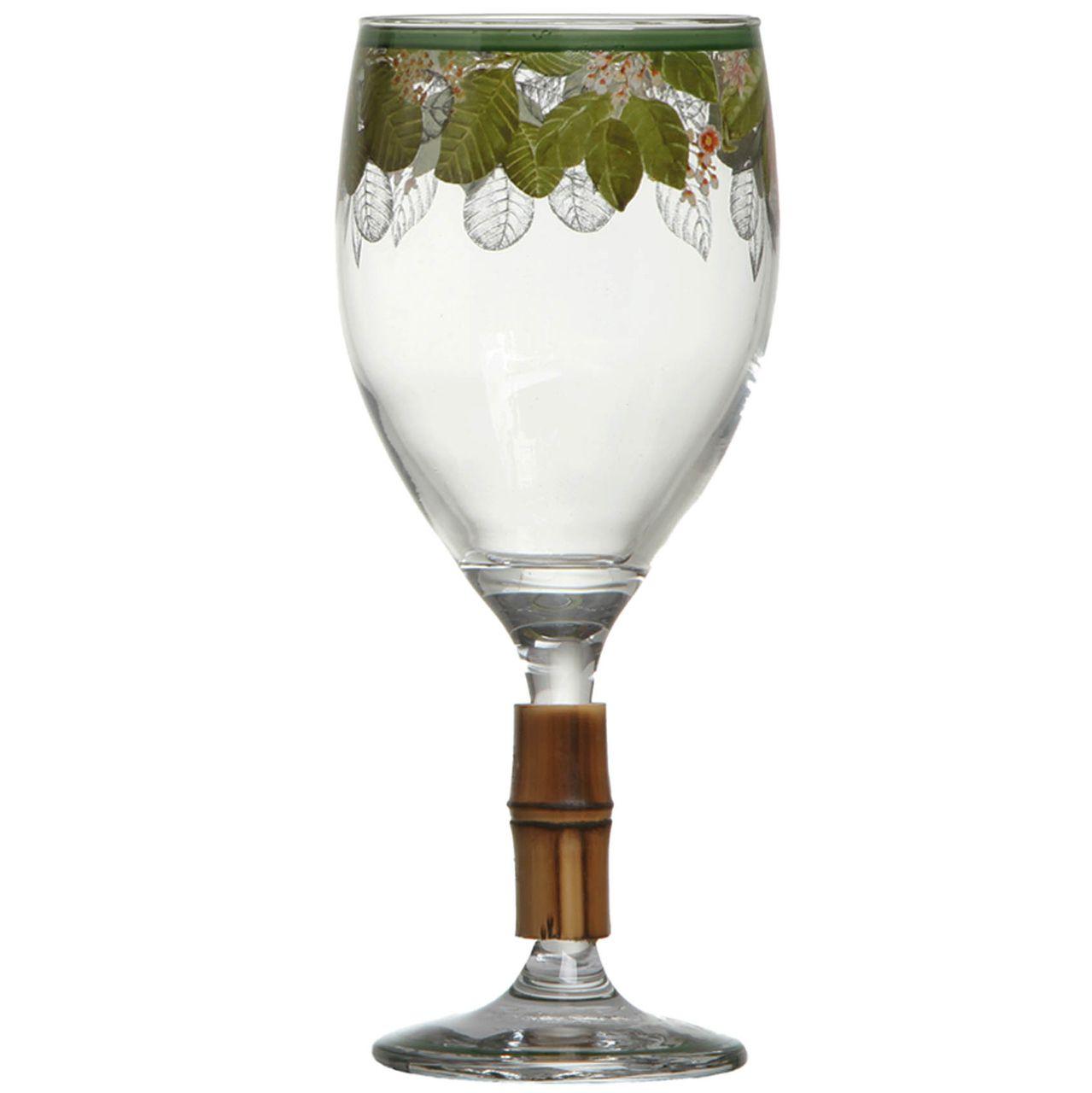 Taça de Vinho c/ Bambu Nostri Frutti (06 Unidades) Cód.: 3852 - MB
