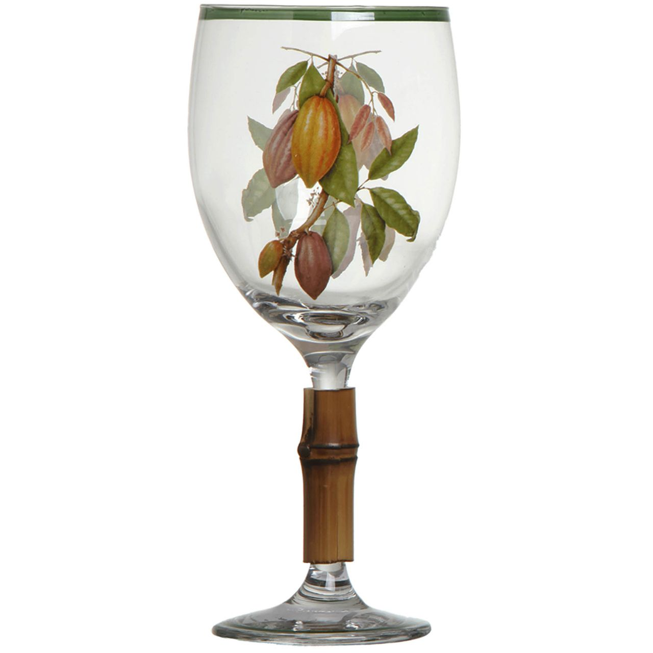Taça de Água c/ Bambu Nostri Frutti Cacau (06 Unidades) Cód.: 3851 - MB