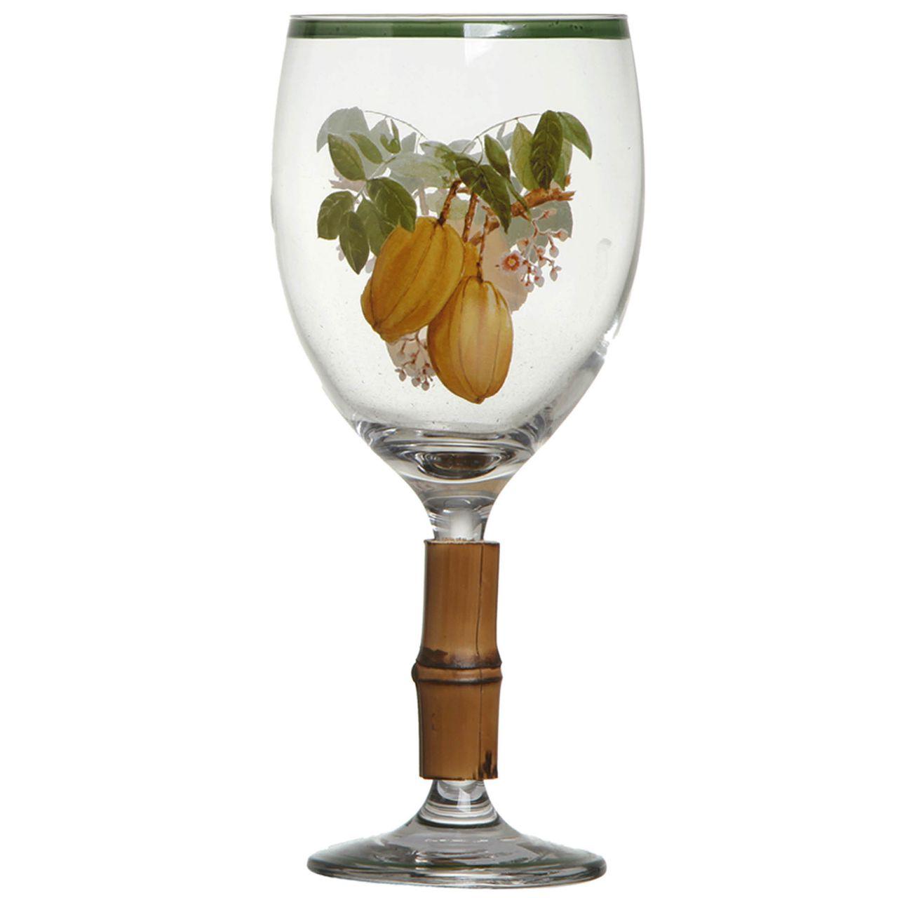 Taça de Água c/ Bambu Nostri Frutti Carambola (06 Unidades) Cód.: 3855 - MB