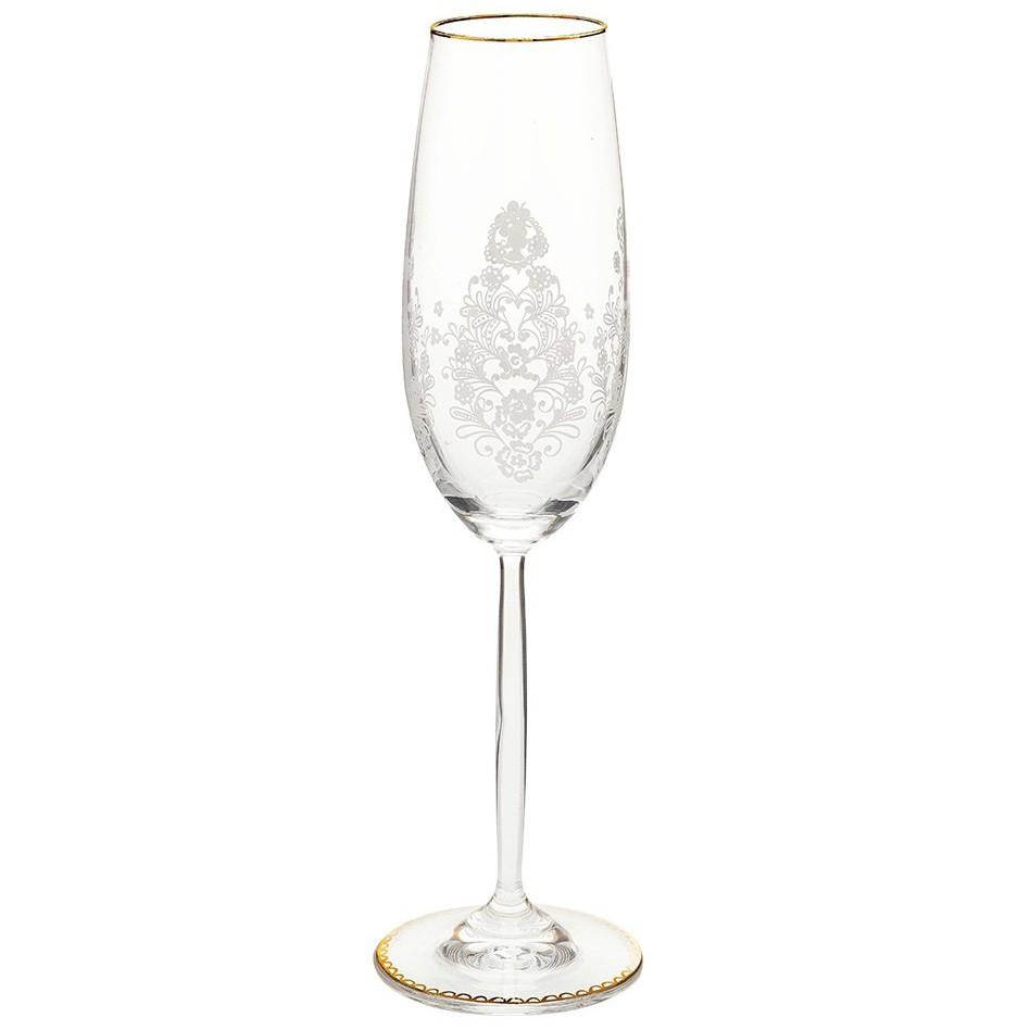 Taça de Champagne - Floral