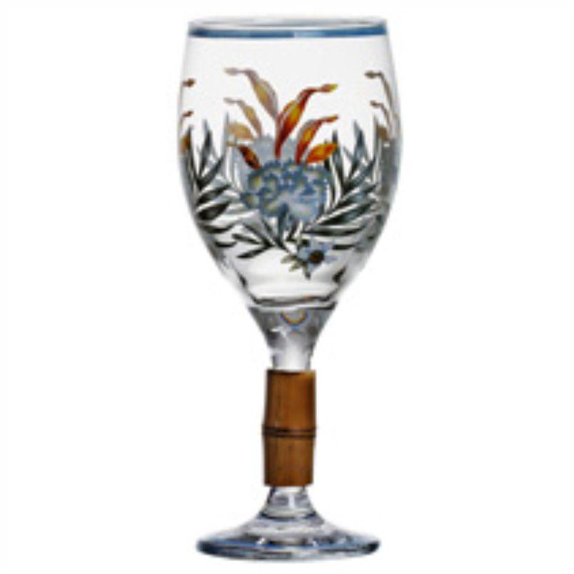 Taça de Vinho  Fauna com Bambu (06 Unidades)