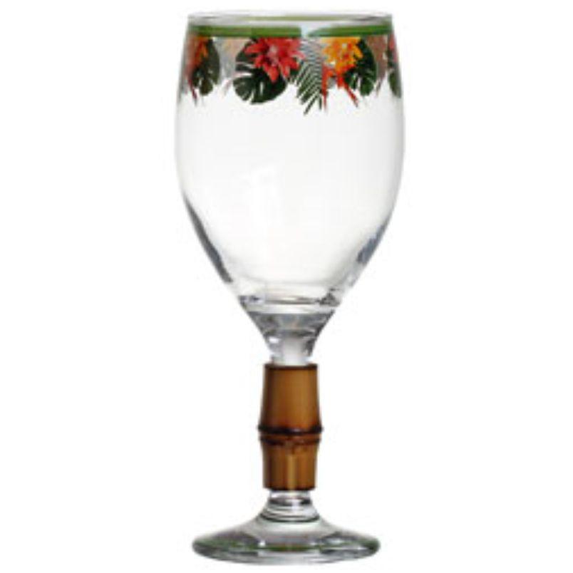 Taça de Vinho Helicônia com Bambu (06 Unidades) - MB