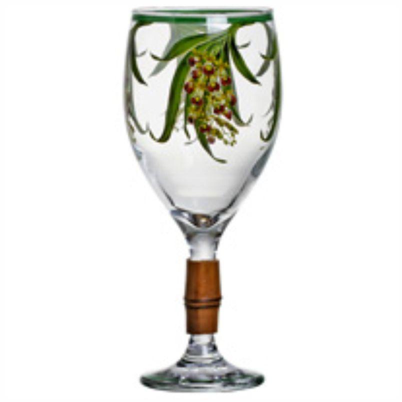 Taça de Vinho Orquídeas com Bambu (6 Unidades)