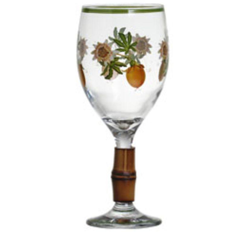 Taça de Vinho  Passionata com Bambu (6 Unidades)