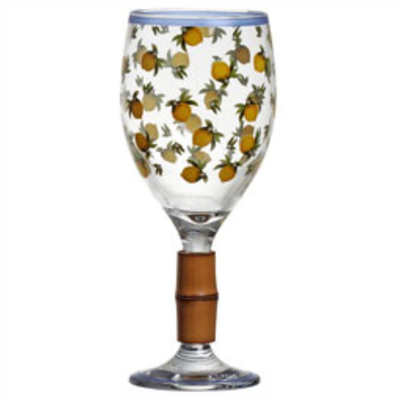 Taça de Vinho Siciliani com Bambu (06 Unidades)