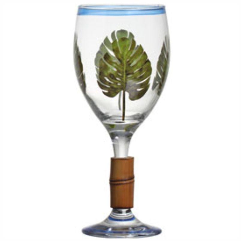 Taça de Vinho Saint Tropez com Bambu (6 Unidades)