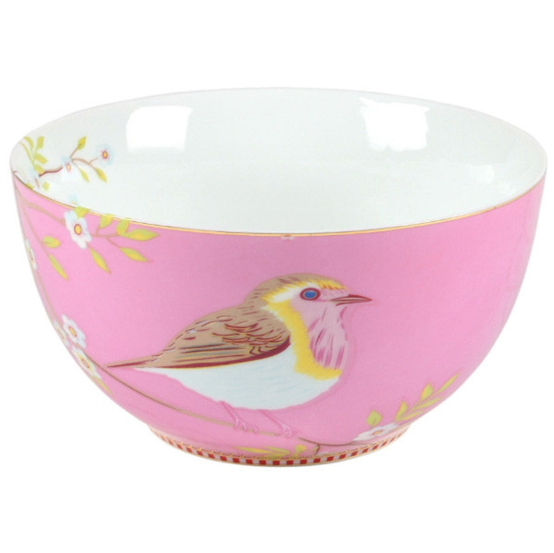 Tigela 15cm Early Bird Rosa Floral Pip Studio