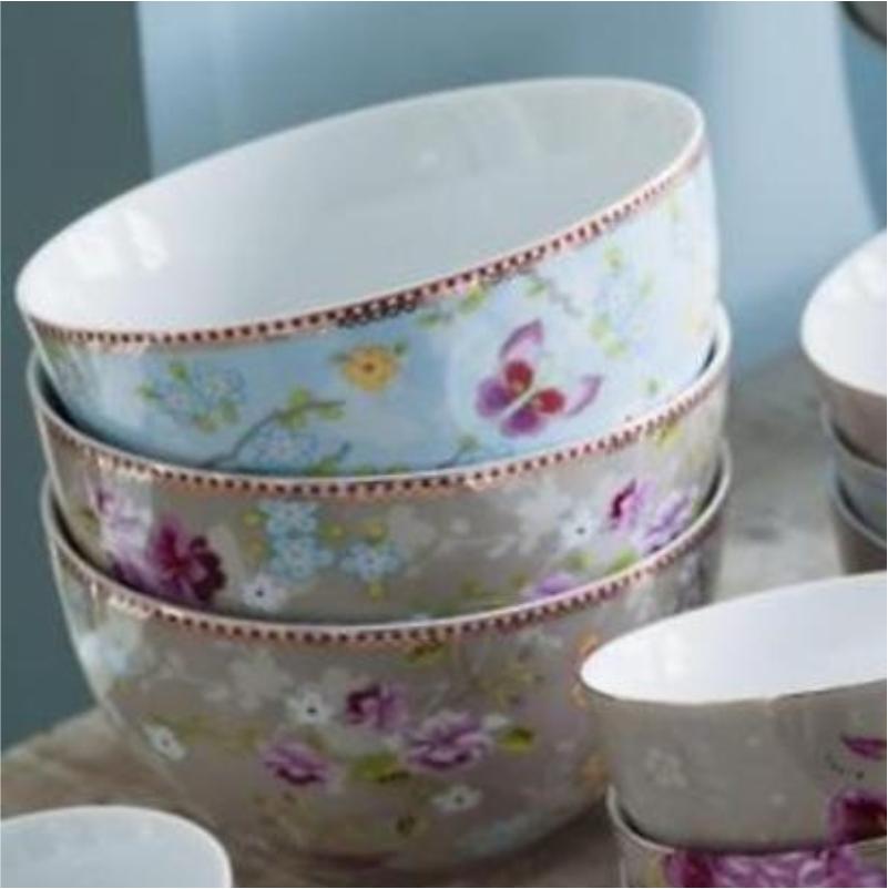 Tigela 18 Chinese Cáqui Floral Pip Studio