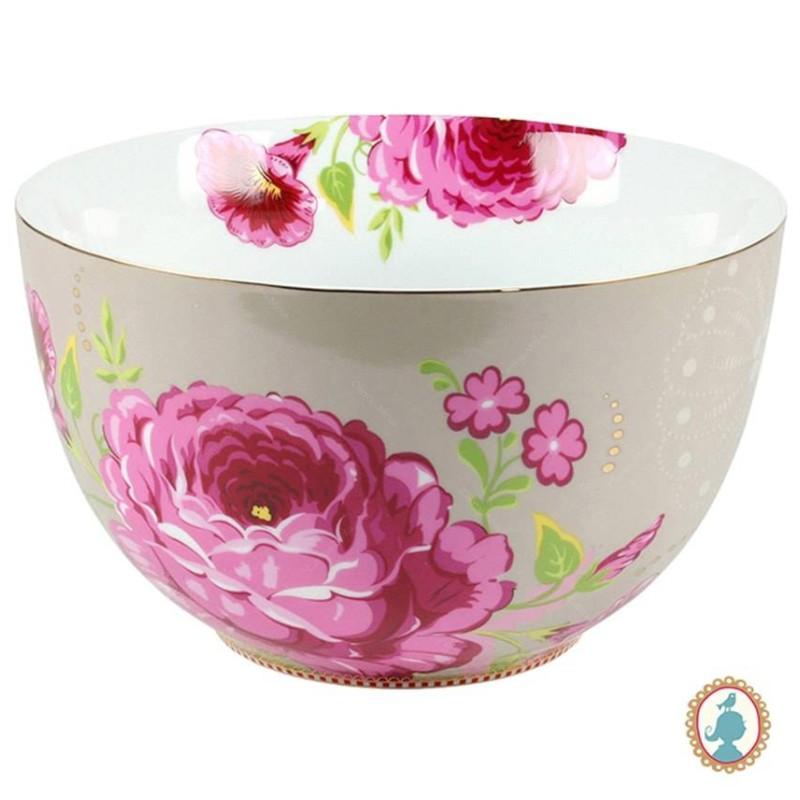 Tigela 23cm Cáqui Floral Pip Studio