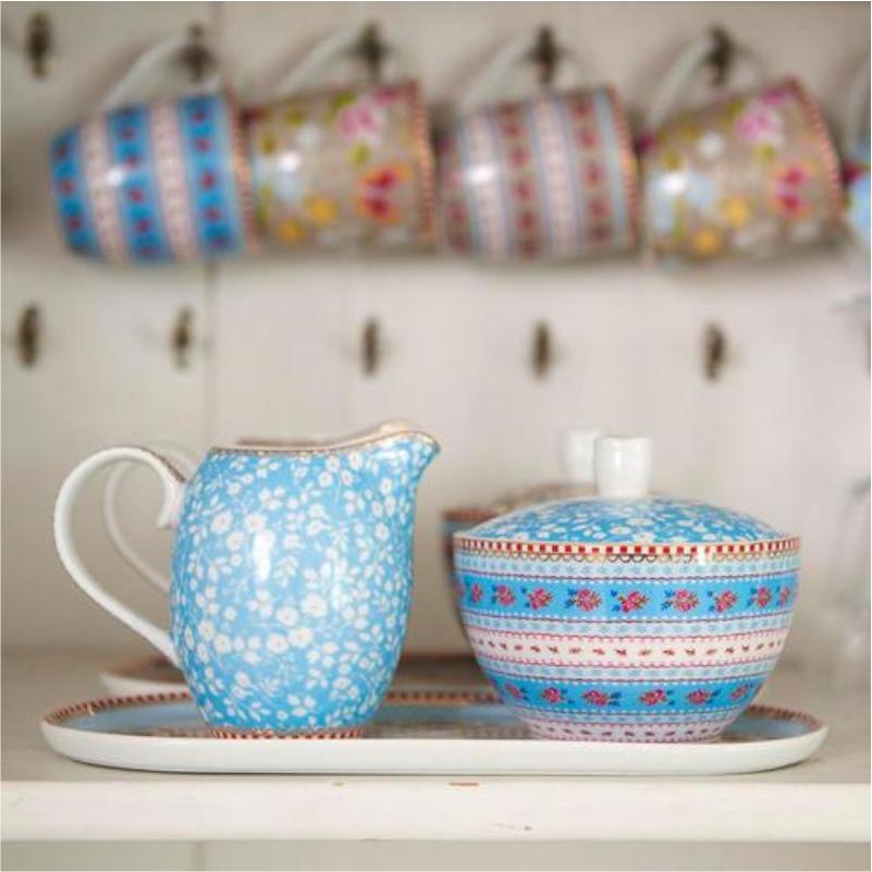 Travessa Retangular Azul Floral Pip Studio