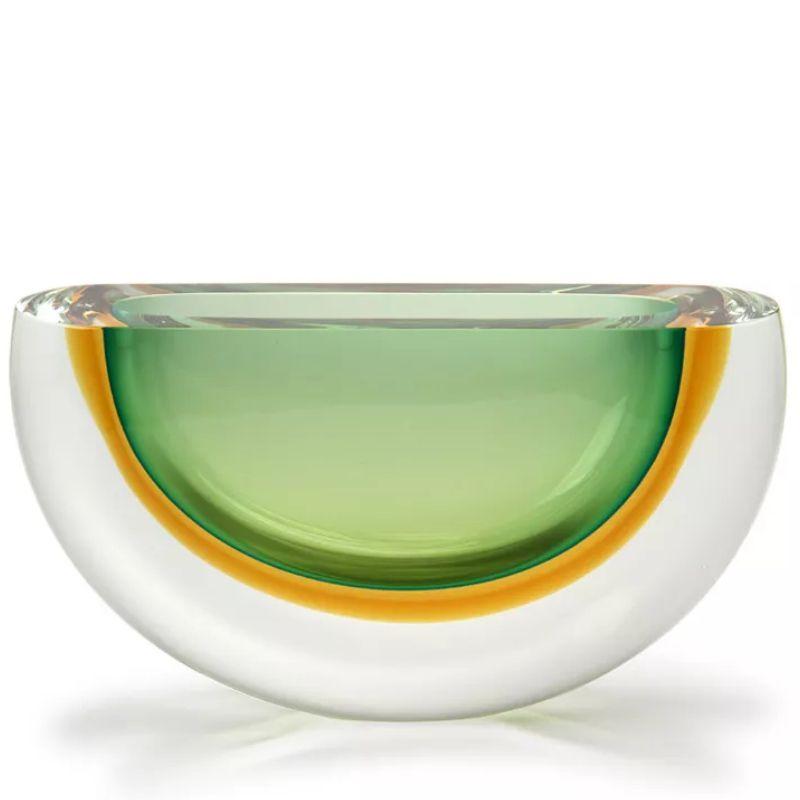 Vaso Bicolor Verde com Âmbar - 13cm - Cód: 17068