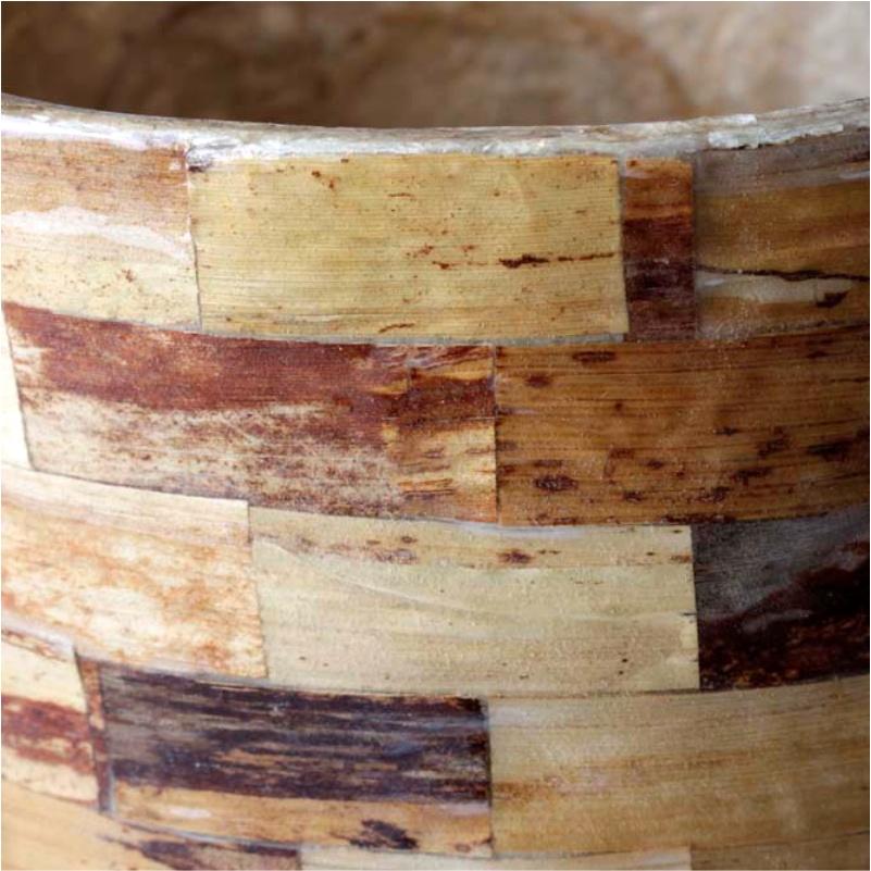 Vaso de Madeira Saha 33cm - Cód. 334