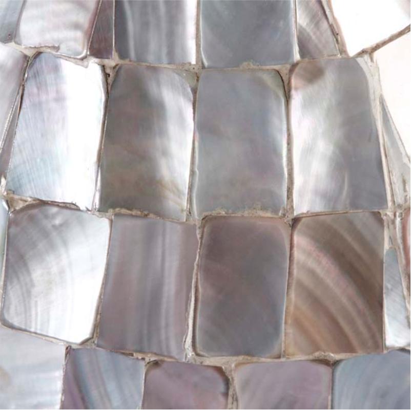 Vaso Decorativo de Madrepérola Branco 44cm - Cód. 2131