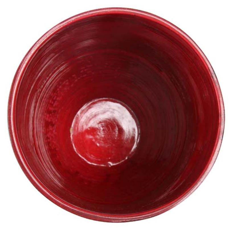 Vaso Vermelho em Madeira 15x23cm - Cód. 5417