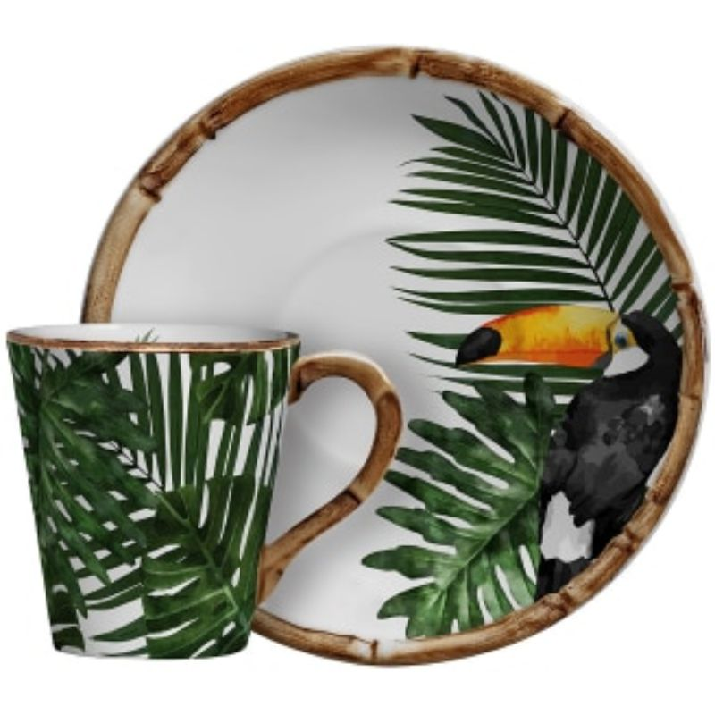 Xícara de Chá C/ Pires Tucano (6 Unidades)
