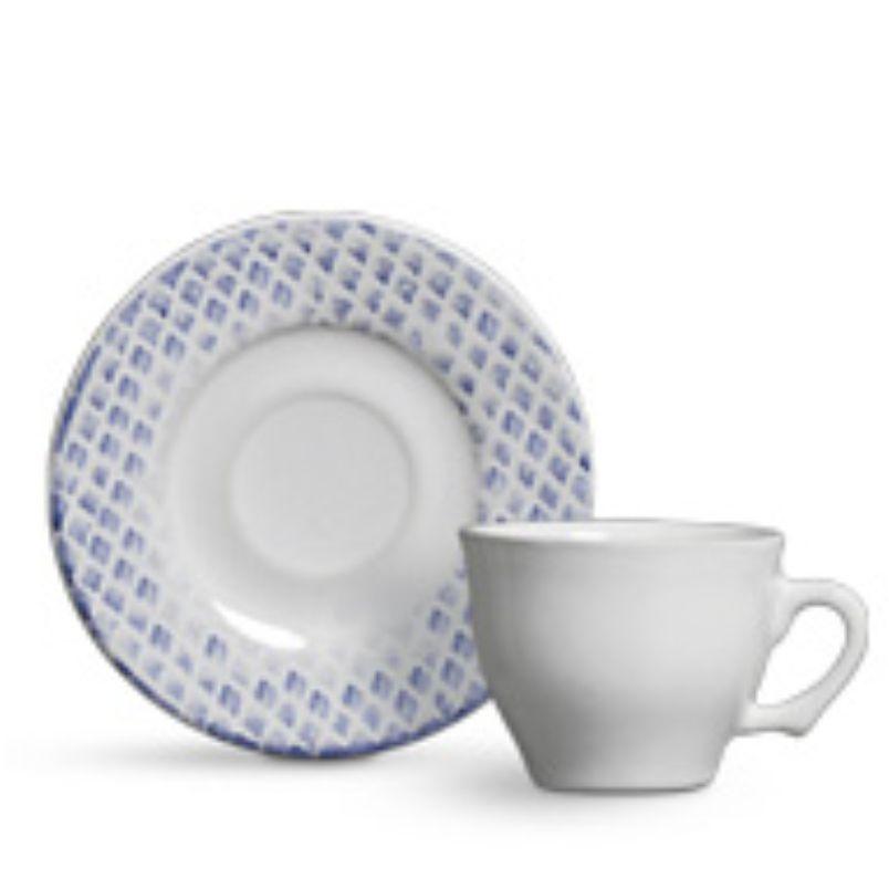 Xícara p/ Café Abacaxi Azul (6 Unidades)