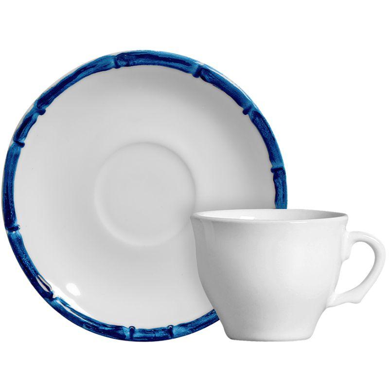 Xícara p/ Café Bambu Colorido Azul (6 Unidades)