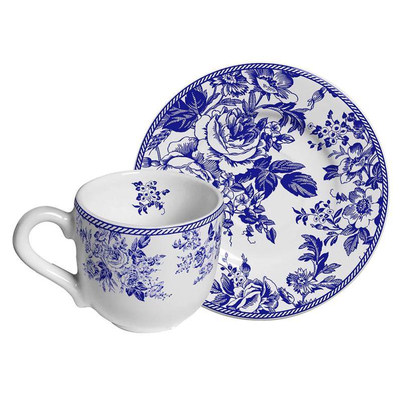 Xícara p/ Café Blue Garden (6 Unidades)