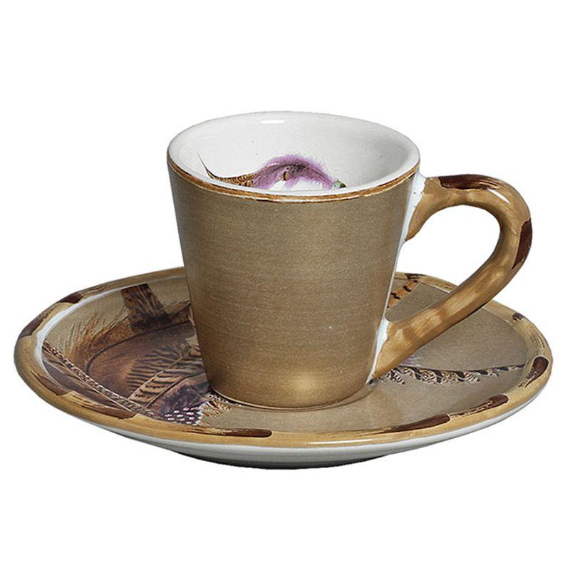 Xícara de Café c/ Pires Durban (06 Unidades) - MB