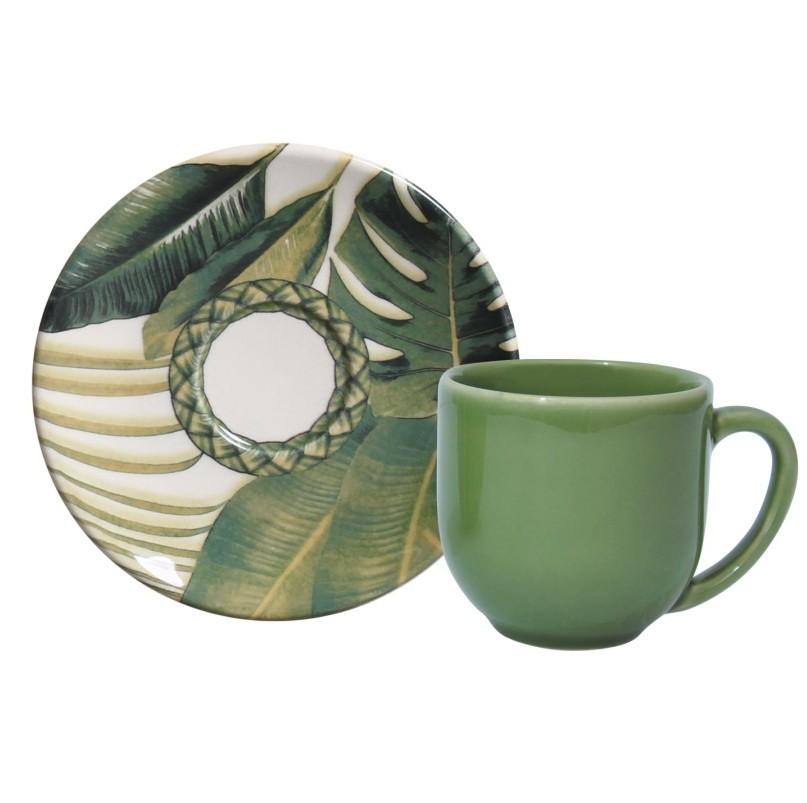 Xícara p/ Café Foliage (6 Unidades)