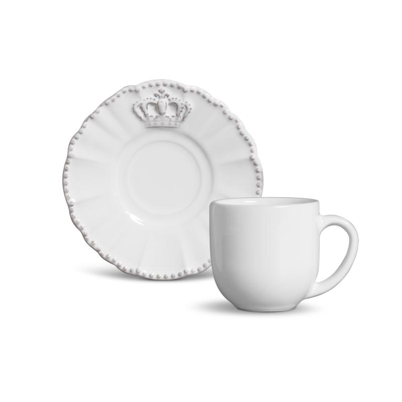 Xícara p/ Café Windsor Branco (6 Unidades)