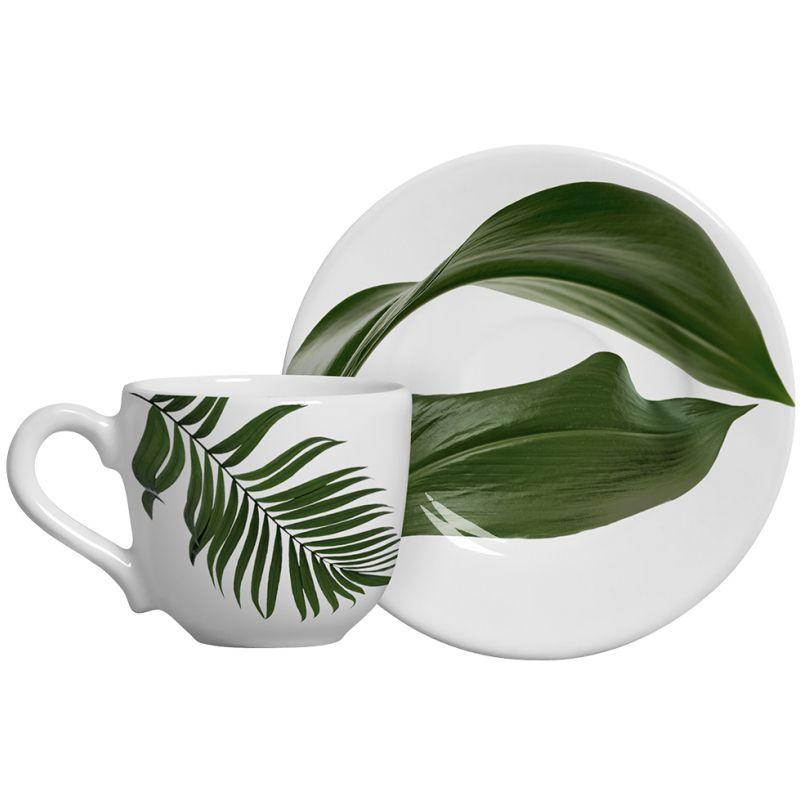 Xícara p/ Café Leaves Concept (06 Unidades)